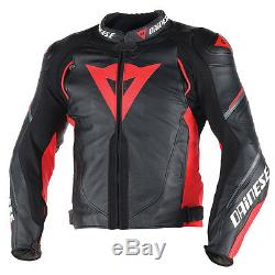 Dainese SUPER SPEED D1 Noir/rouge/anthracite MOTO VESTE EN CUIR