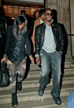 Dsquared2 leather zip jacket RARE (Jay-Z, Rihanna, Diddy)