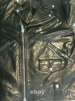 Golden Goose Deluxe real leather jacket black motorcycle