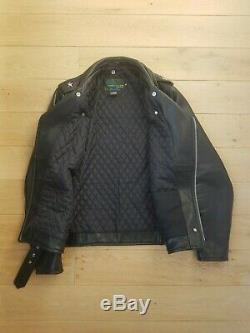 Mens Schott 519 Perfecto Pebbled Leather Motor Jacket Size S
