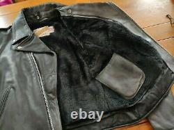 Schott perfecto 125 black size 44 new with tags