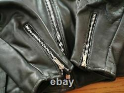 Schott perfecto 125 black size 44 new with tags with removable lining