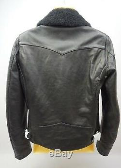 The Kooples Cuir Moto Veste Shearling Col Taille M