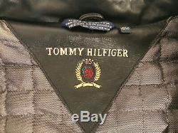 Tommy Hilfiger Cafe Racer Leather Jacket Size L Very Good Condition